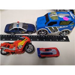 2 Friction powered cars and motorcycle and small car