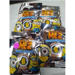 4 unopened Despicable Me 2 Minion Surprise Packs