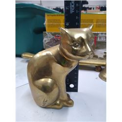 Heavy Solid Brass Cat