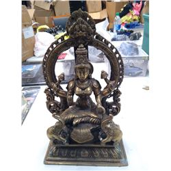 Vintage Heavy Solid Brass Indian Goddess