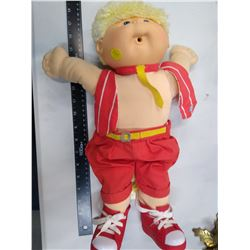 Cabbage Patch Doll Plush Blonde Boy 1989