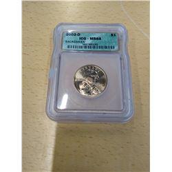 2002 Graded Sacagawea Dollar Coin
