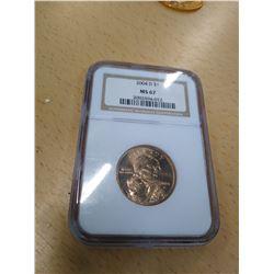 2004 Graded Sacagawea Dollar Coin