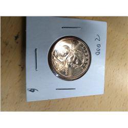 Uncirculated 2000 Sacagawea Dollar Coin