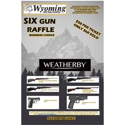 Weatherby Six Gun Raffle