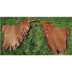 Custom Leather Chinks by LM Ryan Amundson