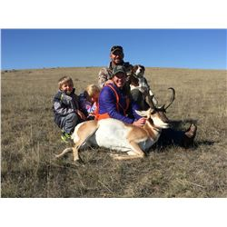 A 3 Day private land youth antelope hunt near Gillette, WY for 2020