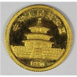 1990 CHINA PANDA 1/20 OZ GOLD