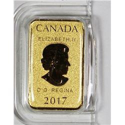 2017 1/10 OZ CANADA .999