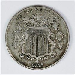 1875 SHIELD NICKEL