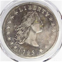 1795 FLOWING HAIR DOLLAR 3 LEAVES