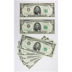 1963 $5.00 FEDERAL RESERVE GEM UNC NOTES