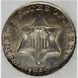 1852 THREE CENT SILVER