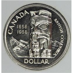 1958 CANADA SILVER DOLLAR