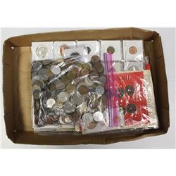 BOX OF FOREIGN COINS