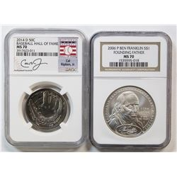 2014-D BASEBALL HALF DOLLAR NGC MS 70