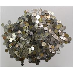 TEN POUNDS OF FOREIGN COINS