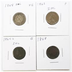 (4) INDIAN CENTS