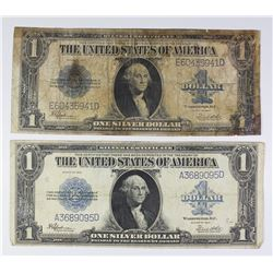 (2) 1923 $1.00 SILVER CERTIFICATES