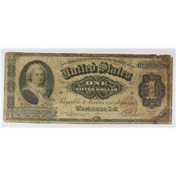 1886 $1.00 SILVER CERTIFICATE