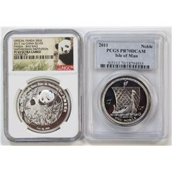2011 ISLE OF MAN NOBLE PCGS PR 70 DCAM AND