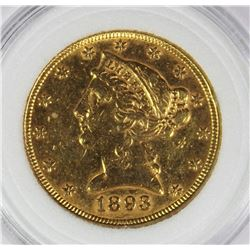 1893 $5.00 GOLD
