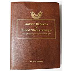 SET OF 22K GOLDEN REPLICAS OF U.S. STAMPS
