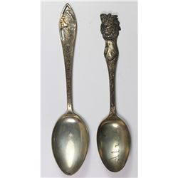 LOT OF TWO STERLING SILVER SPOONS