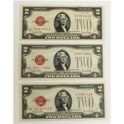 (3) 1928-G $2.00 U.S. NOTES