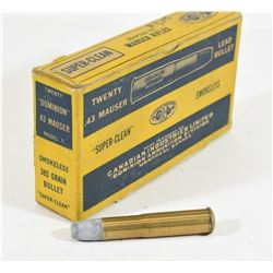 20 Rounds CIL 43 Mauser in Vintage Box