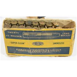 16 Rounds CIL 43 Mauser in Vintage Box