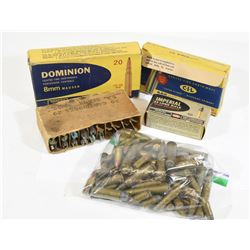 Box Lot Rifle & Pistol Ammunition