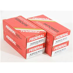 200 Rounds Federal 38 Special 148 Grain Wad Cutter