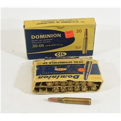 15 Rounds Dominion C-I-L 30-06 180 Grain SP
