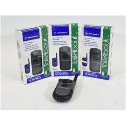 Four Motorola Talkabout FRS Radios