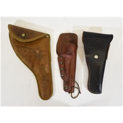 Three Leather Holsters