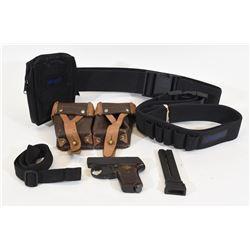 Nylon Belts, Ammo Pouch, Starter Pistol, Mag