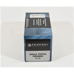 1000 Federal Small Pistol Primers #100