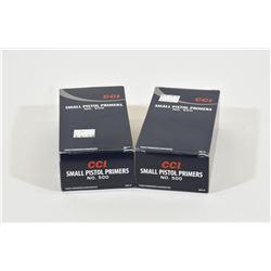 1800 CCI Small Pistol Primers #500