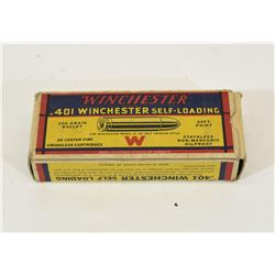 20 Rounds Winchester 401 Win SL 280grn Jkt SP
