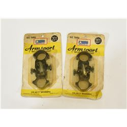Two Sets Armsport Scope Rings