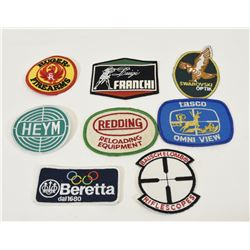 8 Classic Embroidered Firearms Crests