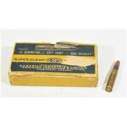 20 Rounds CIL 32 Remington 170 Grain SP