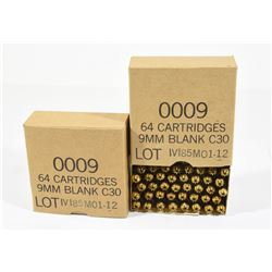 128 Rounds 9mm Luger Blanks