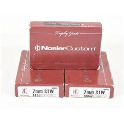 53 Rounds Nosler Custom 7mm STW 140gr Partition