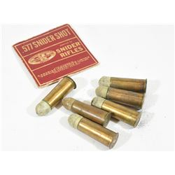 6 Rounds 577 Snider and Original CIL Box Top