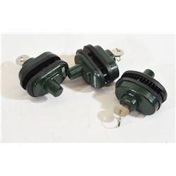 3 Crown Keyed Alike Trigger Locks