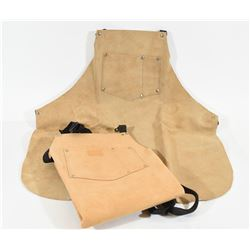 Two Leather Gunsmith Aprons