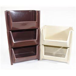 Box Lot Plastic Storage Bins