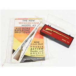 Winchester 42 Brochure and Model 101 Tie Clip